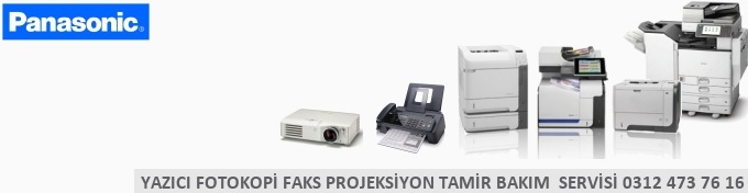 Panasonic Yazıcı faks Printer servisi